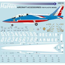 Alpha Jet (Patrouille De France) Decal Sheet 1/48  (Harald Hensel HH48016)