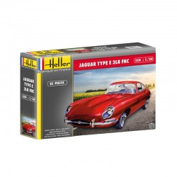 Jaguar Type E 3L8 Fhc 1/24 Scale Kit Heller 80709