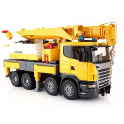 Bruder Scania R-Series Liebherr Crane Truck With Light And Sound Module