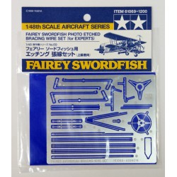 Tamiya 61069 Fairey Swordfish Etched Parts - Photo Etched Bracing Wire