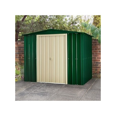 10x8 Apex Metal garden Shed Heritage Green