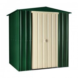 6X5 METAL Apex Garden Shed. Heritage Green