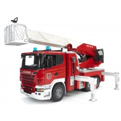 Scania R-Series Fire Engine With Slewing Ladder, Water Pump And Lightand Sound Module (Trucks) Incl. Battery