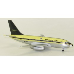 B737-100 (Boeing Experimental) N73700 Polished With Gold Stand (Inflight 200 IF731001P)  Model