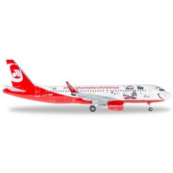 """A320 (Airberlin """"Lindt Hello - Flying Home for Christmas (V)"""") D-ABNM (Herpa Wings 558150)"""