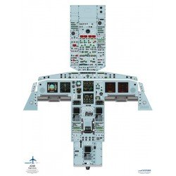 Airbus A340 Handheld Cockpit Poster (Jetpubs A340-HH)