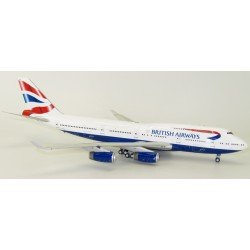 B747-400 (British Airways) G-BYGB With Stand (Inflight 200 IF-747-11-001)