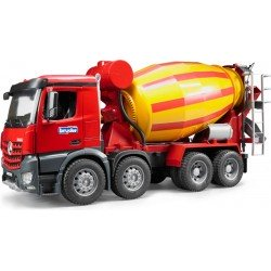 Bruder Mb Actros Arocs Cement Mixer Truck Red Yellow 3654