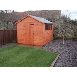 8X10 Super Apex T&G Garden Shed in Wood