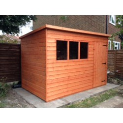 10X8 T&G TIMBER PENT GARDEN SHED