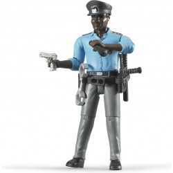 Bruder Policeman, with Accessories b60051