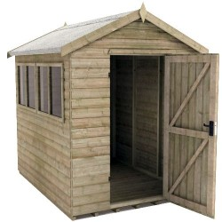 8x10 Tiger Elite Pressure-Treated Apex Shed