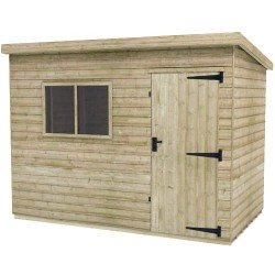 10X6 Elite Pressure Treated Pent Shed