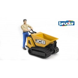 Bruder World Jcb Micro Dumpster And Construction Worker