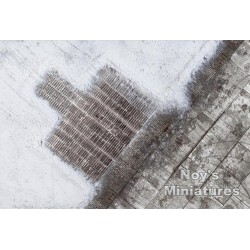 Airbase Tarmac Sheet: Winter WWII Luftwaffe Hardstand 1/72 Scale Kit