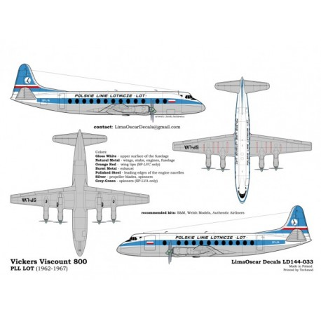 VISCOUNT 804 LOT 1/144 Scale Kit