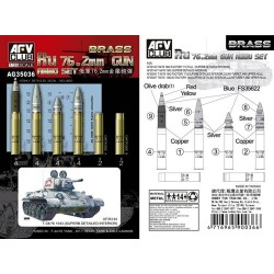Russian 76.2mm Brass Ammo 1/35 Scale Model