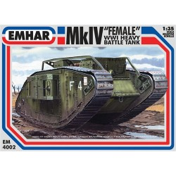 "Mk IV ""Female"" WWI Heavy Battle Tank 1/35 Scale Kit"