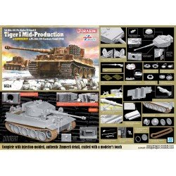 Sd.Kfz.181 Pz.Kpfw.VI Ausf.E Tiger I Mid Production w/Zimmerit s.Pz.Abt.506 Eastern Front 1944 1/35 Scale Kit