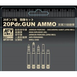 British 20 Pdr Ammo 1/35 Scale Kit