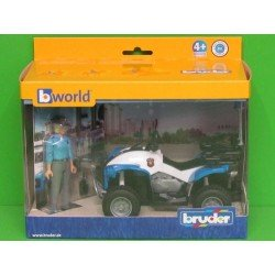 Bruder Police-Quad With Policewoman And Accessories