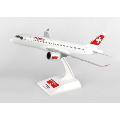 Bombardier CS100 Swiss  Model 1/100 Scale Clickmodel