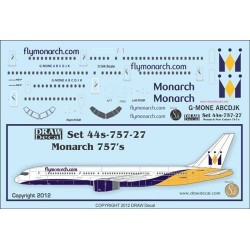 B757-200 Monarch Decal Sheet 1/144 Scale Kit