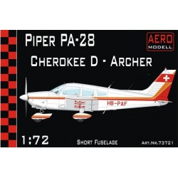 Piper Pa28 Cherokee D - Archer - Short Fuselage 1/72 Scale Kit