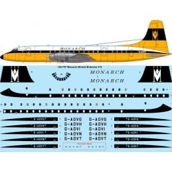 Bristol Britannia 300 (Monarch) (Two Six decals 144-757) 1/144 Decal Sheet