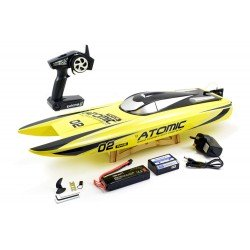 Remote VOLANTEX RACENT ATOMIC 70CM BRUSHLESS RACING BOAT RTR (YELLOW)
