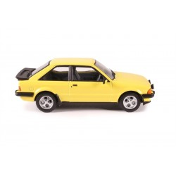 Ford Escort Mk3 XR3 Prairie Yellow Prebuilt Model