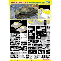 Panther Ausf.G Late Production w/Add-on Anti-Aircraft Armor 1/35 Scale Kit