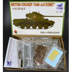 Comet  A34  Cruiser  Tank  1/35 Scale Kit by Bronco Models