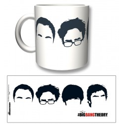Big Bang Theory FACES B/W MUG