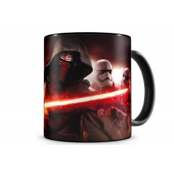 STAR WARS EP7 KYLO AND STORMTRPRS BLACK/RED MUG