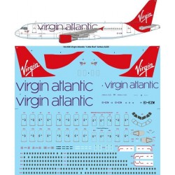 "Airbus A320 (Virgin Atlantic 'Little Red"") 1/144 Scale Decals"