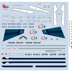 Boeing B720 (Trans Polar) 1/144 Scale Decals