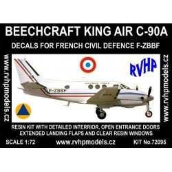 Beech King Air C-90A (French Civil Defence) 1/72 Scale Kit