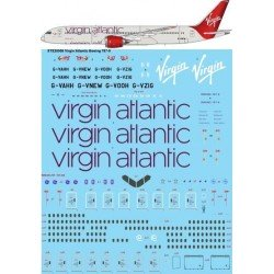 Boeing 787-9 (Virgin Atlantic) 1/144 Scale Decals