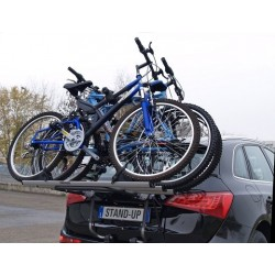 Menabo Steel 3 Car Bicycle Carrier Rack For Up To 2 Bikes.
