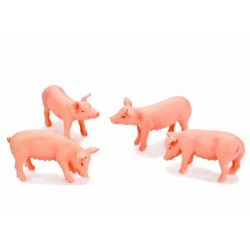 Pack of 4 Pigs