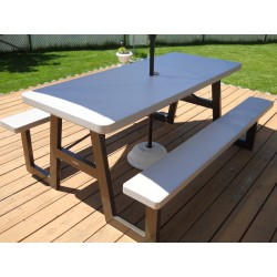 "Lifetime Products Picnic Table 72"" Bronze Sand"