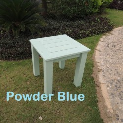 Blue Winawood End Table On Its Own Powder Blue