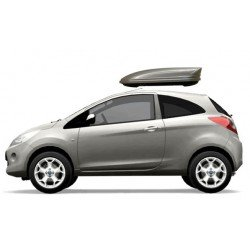 Menabo Mania Car Roof Holiday Box 320 Lts Gloss Gel Silver. Free Delivery.