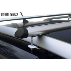 Menabo Raven Roof Bars 1.30 Mtr Wide For Cars With Raised Roof Rails. Bolt on.