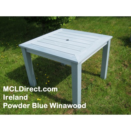 Winawood Square 4 Seater Dining Table Duck Egg Green Colour - Maintenance Free.