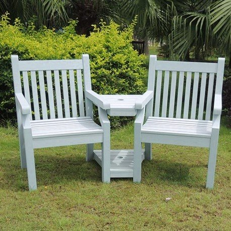 Blue Winawood Love Seat/ Winawood Powder Blue