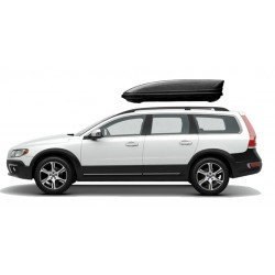 460Lts XL Menabo MWay Car Roof Holiday Box 460 Lts Black.