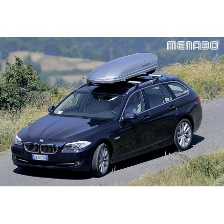 460Lts Menabo Mania Roof Box 460 Lts Abs Gloss Gel Silver. Free Delivery.