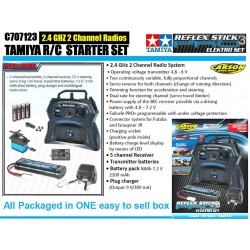 Carson R/C Starter Set Inc Radio Battery Charger C707123 For Tamiya Kit Cars